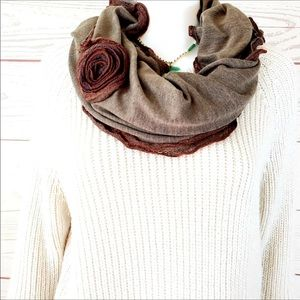 Rose trim lace scarf for agentpixie only